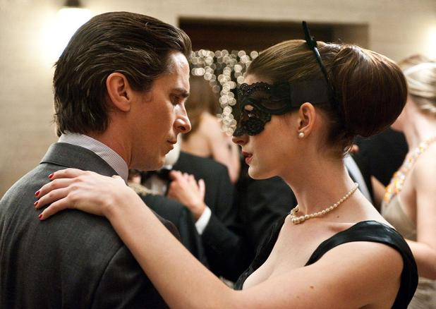 The Dark Knight Rises Christian Bale Anne Hathaway