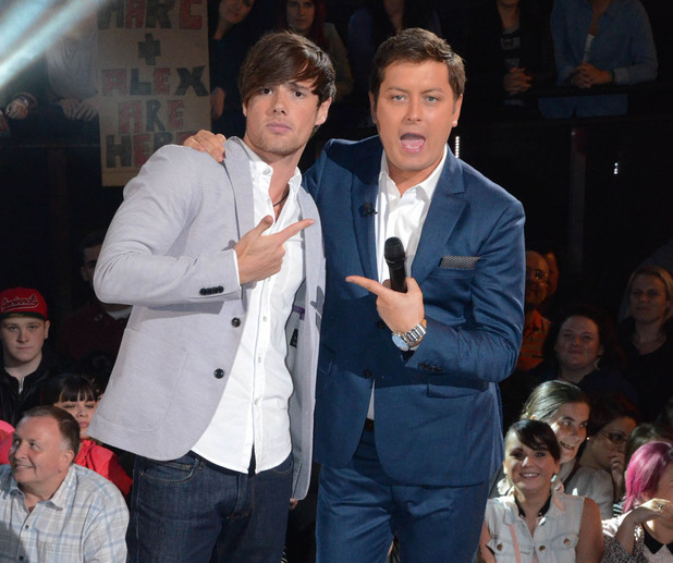 Big Brother: Arron Lowe, pictured with host Brian Dowling, is evicted