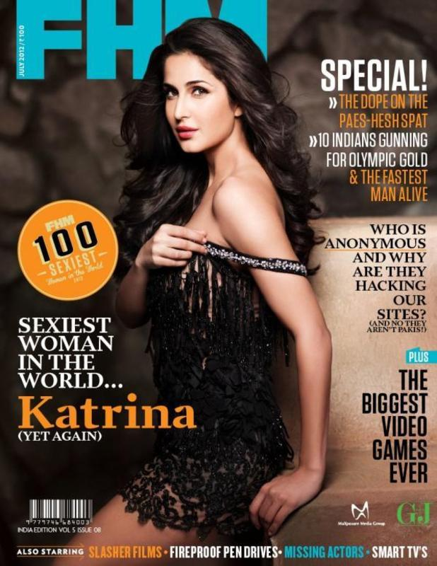 Katrina Kaif is voted FHM's sexiest woman in the world 2012