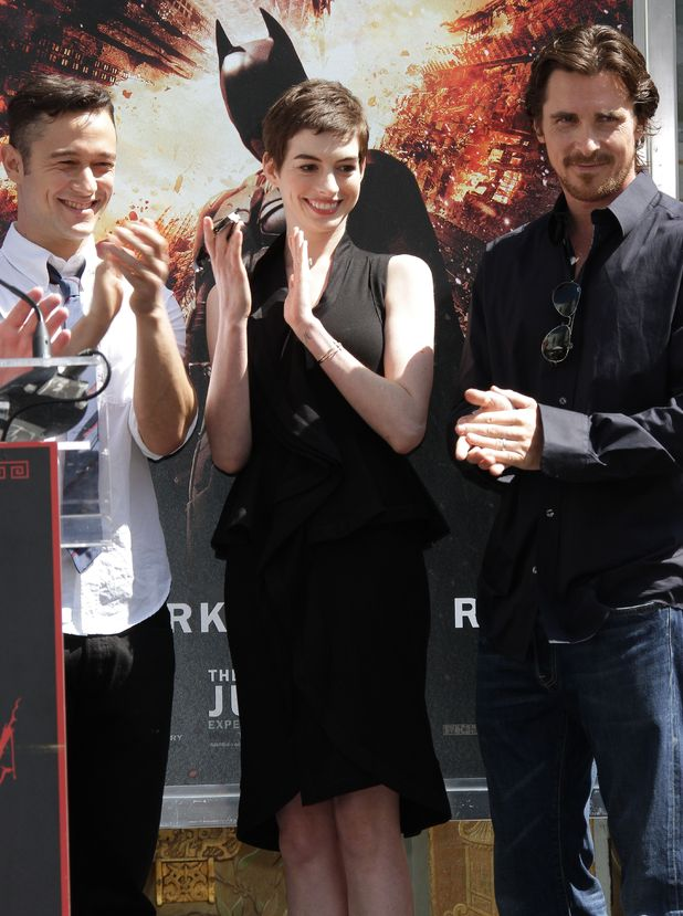 Joseph Gordon-Levitt, Anne Hathaway and Christian Bale