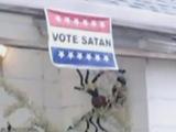 'Vote Satan' sign stolen