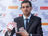 Steve Frayne, aka Magician Dynamo arrives for the F1 party in aid of Great Ormond Street Hospital children's charity