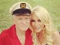 Hugh Hefner obtained a marriage license to wed his on-again, off-again fiancée Crystal Harris.