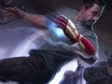 Robert Downey Jr's superhero appears to be held prisoner in the new art.