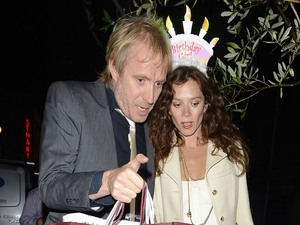 Anna Friel celebrates her birthday at The Ivy with Rhys Ifans. They then headed to Groucho club and didn't leave till 2:45am London