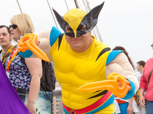 Fan dressed as Wolverine