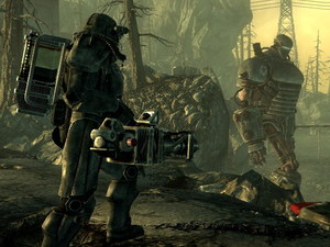 Screenshot of the &#39;Fallout 3&#39; game for PS3