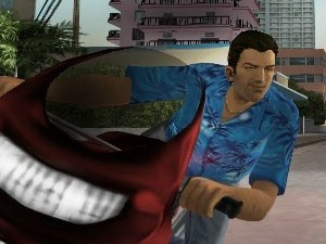 Screenshot of the &#39;Grand Theft Auto: Vice City&#39; game for PS2