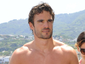 Kelly Brook and Thom Evans taking a boat trip to explore Ischia island Ischia, Italy
