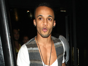 Aston Merrygold leaves the Rose Club, London.