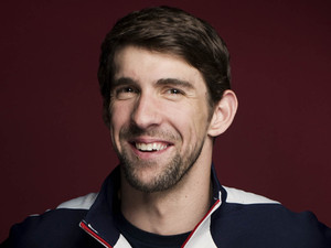 Michael Phelps - Olympics media summit portrait (PA green label)