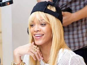 Rihanna on set of 'Styled To Rock'