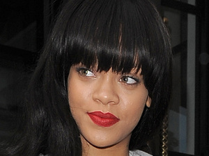Rihanna leaving her hotel.