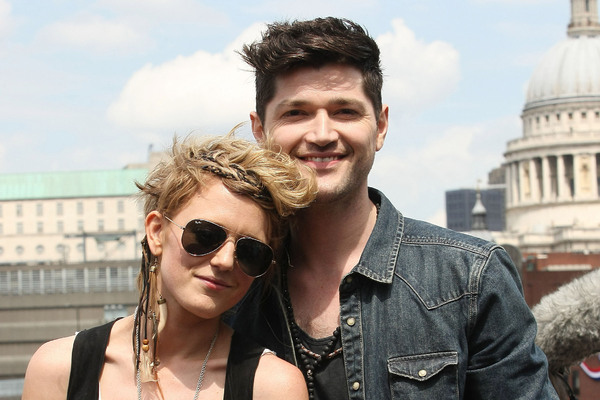 Bo Bruce and Danny O'Donoghue busking on the South Bank London, England - 30.05.12
