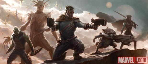 Guardians of the Galaxy movie concept art