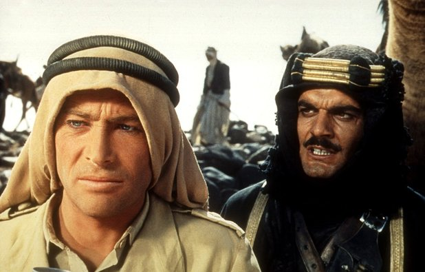 Peter O'Toole (right) and Omar Sharif (left) in the 1962 movie 'Lawrence of Arabia'.