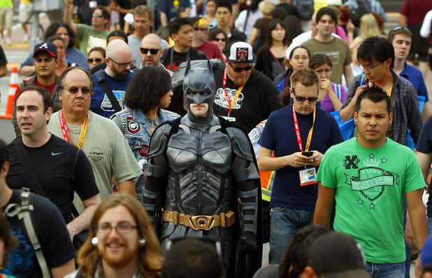 Fan dressed as Batman