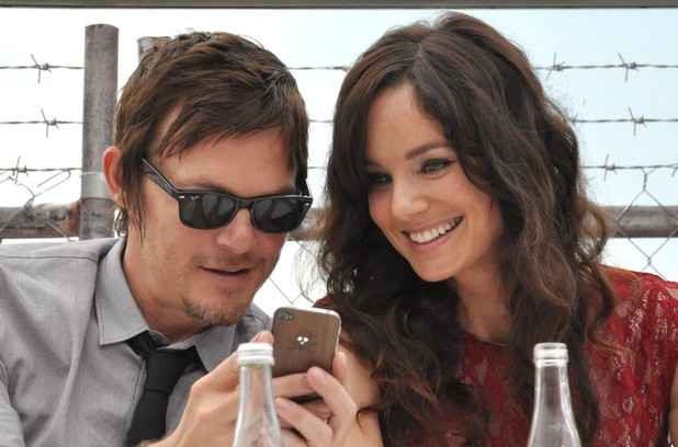 Norman Reedus and Sarah Wayne Callies