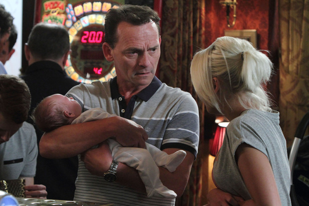 Lola with her new baby in EastEnders
