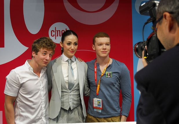 Jeremy Allen White, Emmy Rossum and Cameron Monaghan.