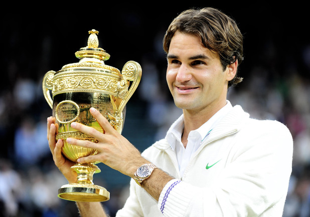 Roger Federer wins Wimbledon 2012 (PA green label)