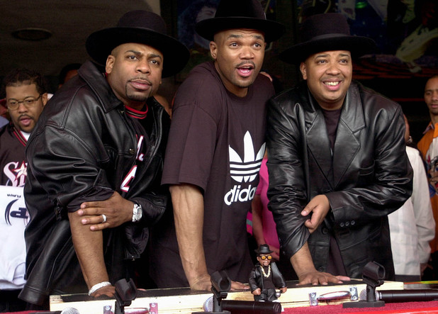 Run DMC photographed in February 2002, before the death of Jam Master Jay in October 2002