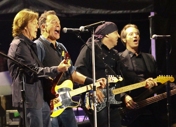 Paul McCartney joins Bruce Springsteen and the E Street Band on stage