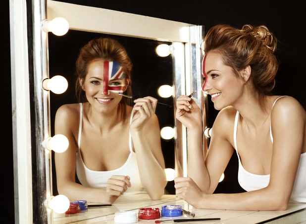 Kara Tointon paints her face for Panasonic