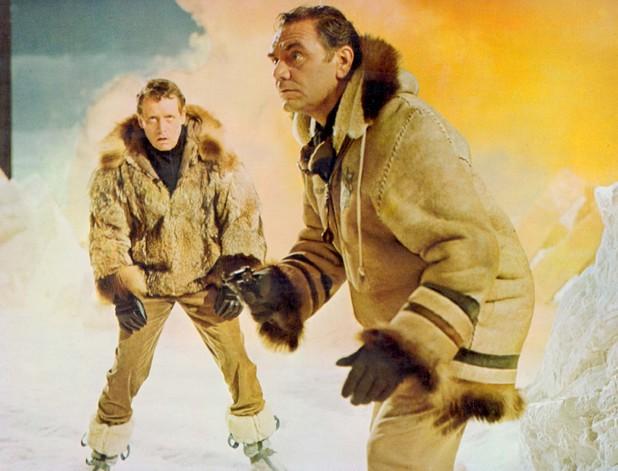 Ernest Borgnine alongside Patrick Mcgoohan