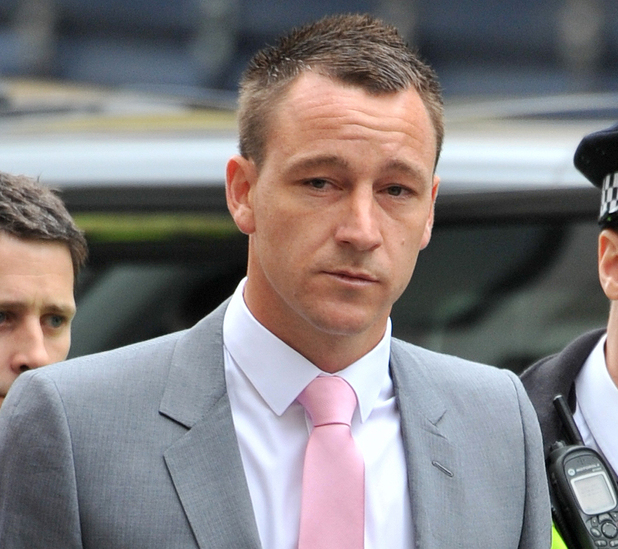 John Terry arrives at the City of Westminster Magistrates Court to answer charges of racial abuse. London