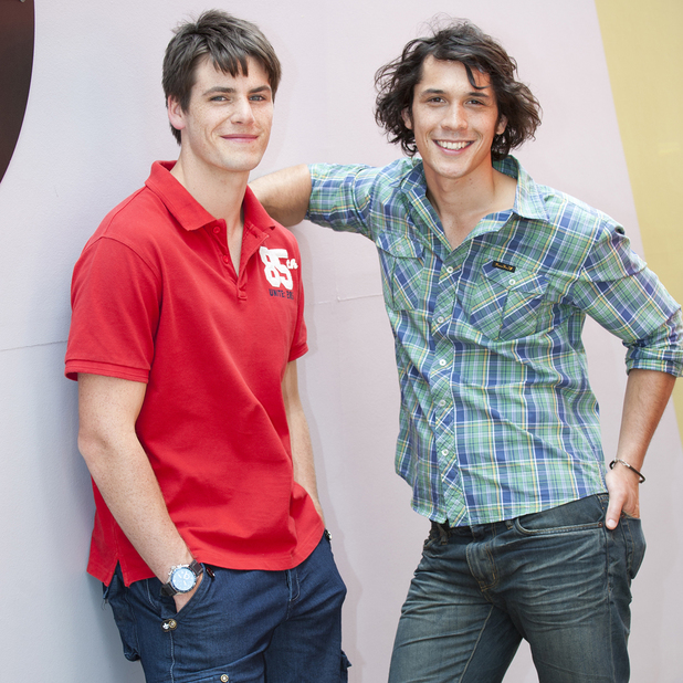 Bob Morley and James Mason as Aiden and Chris