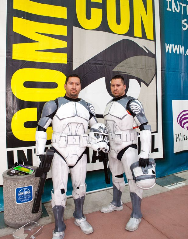 Fans dressed as Clone Troopers