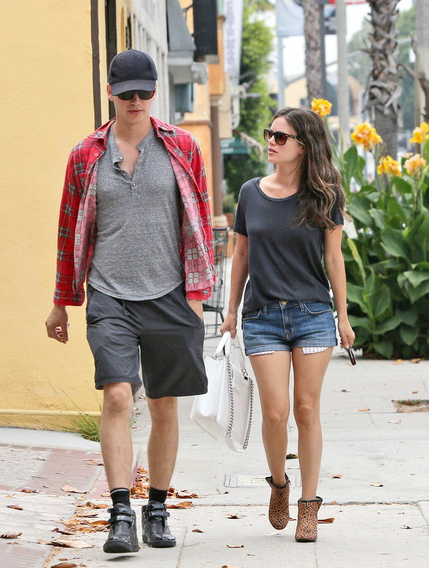 Rachel Bilson and boyfriend Hayden Christensen seen out and about in Studio City Los Angeles