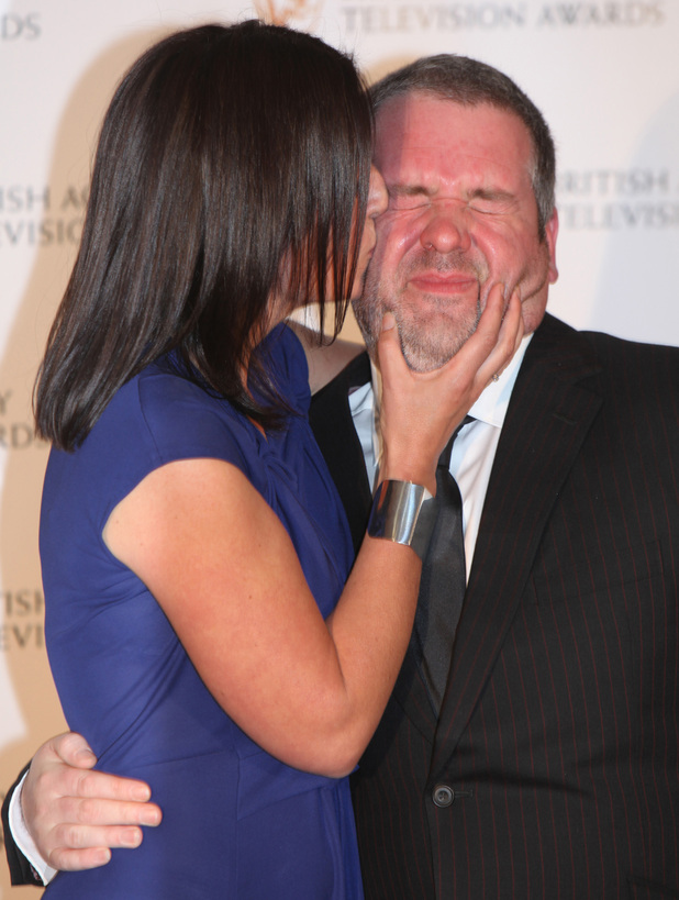 Davina McCall and Chris Moyles