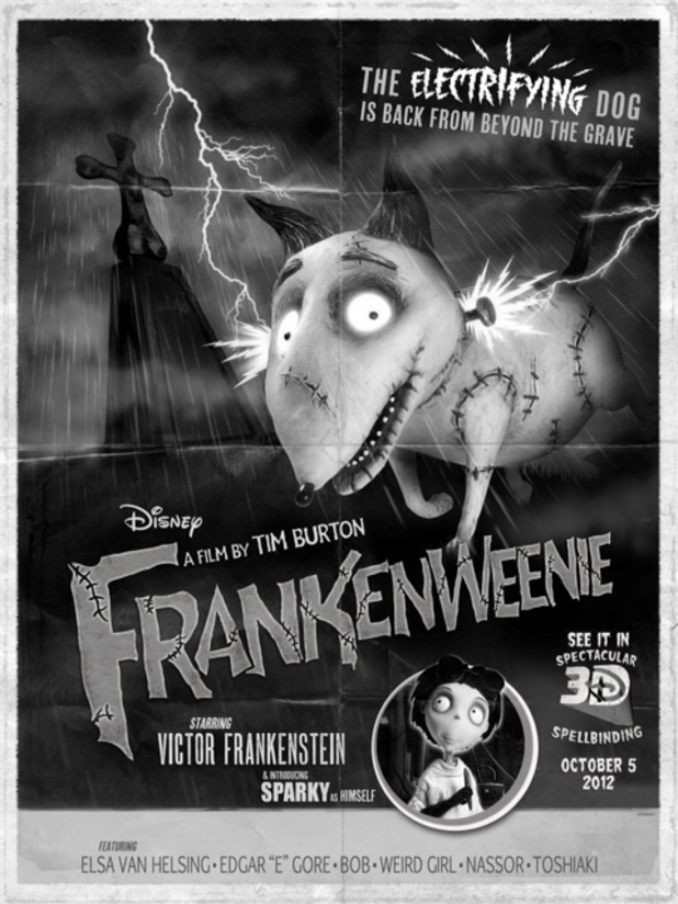 Poster for the movie 'Frankenweenie' for Comic-Con 2012