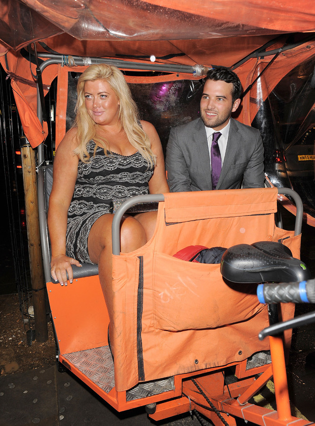 Gemma Collins and Ricky Rayment