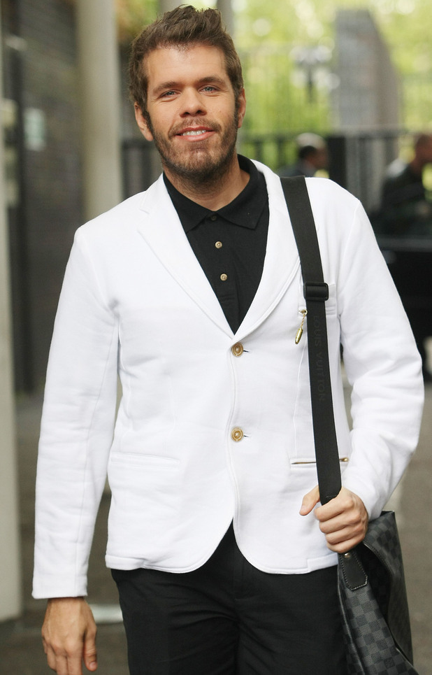 Perez Hilton outside the ITV studios, London.