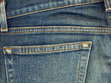 Close-up image of jeans