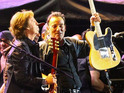 Bruce Springsteen pokes fun at controversy by playing 'I Fought the Law'.