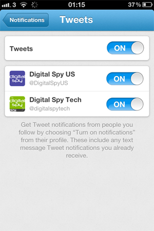 Updated Twitter iOS app screenshot