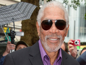 Morgan Freeman at the UK premiere of 'The Dark Knight Rises'