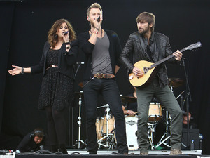 Lady Antebellum play at the Hard Rock Calling music festival in Hyde Park, London