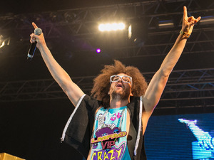 Redfoo of LMFAO performing live on stage during the Optimus Alive Festival in Lisbon