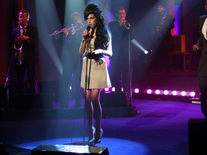 Amy Winehouse on Parkinson&#39;s TV Programme .  Singing on stage. 