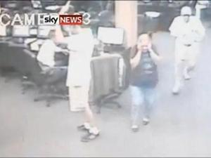 Robbery CCTV footage from Sky News