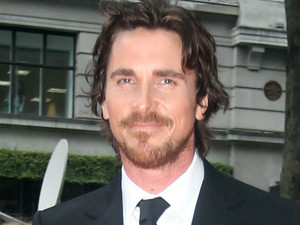 Lead actor Christian Bale at the European premiere of the new Batman film, 'The Dark Knight Rises' at Odeon Leicester Square in London