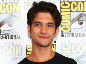 Actor Tyler Posey poses in the press room at the 'Teen Wolf' event during Comic-Con 2012 in San Diego