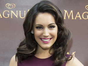 Kelly Brook arrives at the Magnum London pop-up store at Westfield shopping centre, which opened today for seven weeks