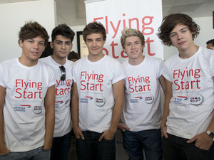 One Direction ready to take to the skies.