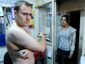 A furious Tina heads over to confront Tyrone about ruining her and Tommy's holiday, but she is shocked when she arrives the garage to find Tyrone applying medication to his injuries